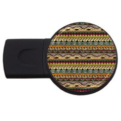 Aztec Pattern Ethnic Usb Flash Drive Round (2 Gb) by BangZart
