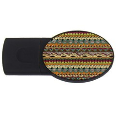 Aztec Pattern Ethnic Usb Flash Drive Oval (2 Gb) by BangZart