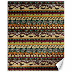 Aztec Pattern Ethnic Canvas 16  X 20   by BangZart