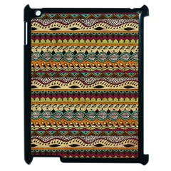 Aztec Pattern Ethnic Apple Ipad 2 Case (black) by BangZart