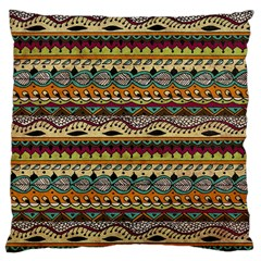 Aztec Pattern Ethnic Large Cushion Case (two Sides)