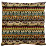 Aztec Pattern Ethnic Large Cushion Case (Two Sides) Back