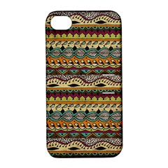Aztec Pattern Ethnic Apple Iphone 4/4s Hardshell Case With Stand