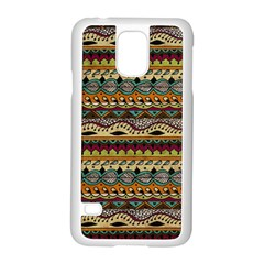 Aztec Pattern Ethnic Samsung Galaxy S5 Case (white)