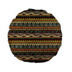 Aztec Pattern Ethnic Standard 15  Premium Flano Round Cushions by BangZart