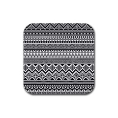 Aztec Pattern Design Rubber Square Coaster (4 Pack)