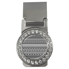 Aztec Pattern Design Money Clips (cz)