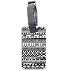 Aztec Pattern Design Luggage Tags (two Sides) by BangZart