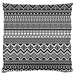 Aztec Pattern Design Large Flano Cushion Case (one Side) by BangZart