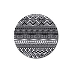 Aztec Pattern Design(1) Rubber Coaster (round)  by BangZart