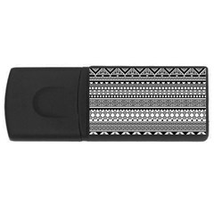 Aztec Pattern Design(1) Rectangular Usb Flash Drive by BangZart