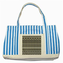 Aztec Pattern Design(1) Striped Blue Tote Bag