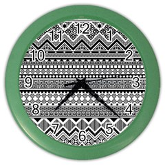 Aztec Pattern Design(1) Color Wall Clocks by BangZart