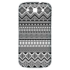 Aztec Pattern Design(1) Samsung Galaxy S3 S Iii Classic Hardshell Back Case by BangZart