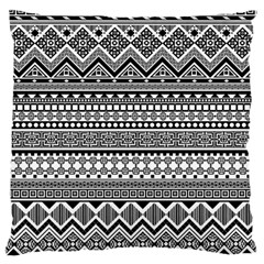 Aztec Pattern Design(1) Large Flano Cushion Case (one Side) by BangZart
