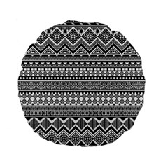 Aztec Pattern Design(1) Standard 15  Premium Flano Round Cushions by BangZart