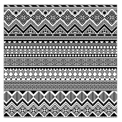 Aztec Pattern Design(1) Large Satin Scarf (square) by BangZart