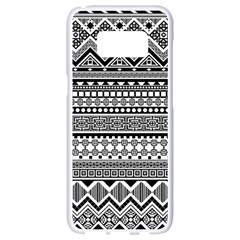 Aztec Pattern Design(1) Samsung Galaxy S8 White Seamless Case by BangZart