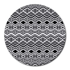 Aztec Design  Pattern Round Mousepads by BangZart
