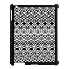 Aztec Design  Pattern Apple Ipad 3/4 Case (black)