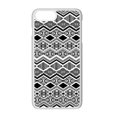 Aztec Design  Pattern Apple Iphone 7 Plus White Seamless Case