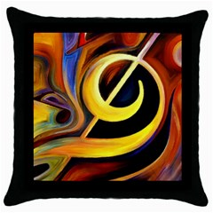 Art Oil Picture Music Nota Throw Pillow Case (black) by BangZart