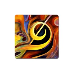 Art Oil Picture Music Nota Square Magnet