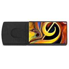 Art Oil Picture Music Nota Rectangular Usb Flash Drive by BangZart