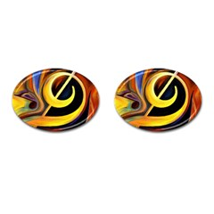 Art Oil Picture Music Nota Cufflinks (oval) by BangZart