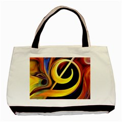 Art Oil Picture Music Nota Basic Tote Bag by BangZart