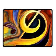Art Oil Picture Music Nota Fleece Blanket (small) by BangZart