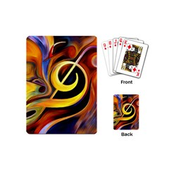 Art Oil Picture Music Nota Playing Cards (mini)  by BangZart