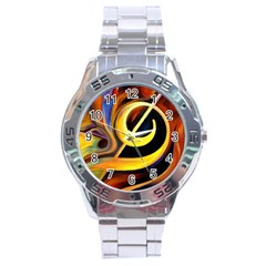 Art Oil Picture Music Nota Stainless Steel Analogue Watch by BangZart