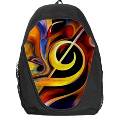 Art Oil Picture Music Nota Backpack Bag by BangZart