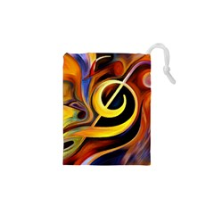 Art Oil Picture Music Nota Drawstring Pouches (xs)  by BangZart