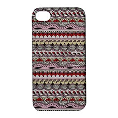 Aztec Pattern Art Apple Iphone 4/4s Hardshell Case With Stand