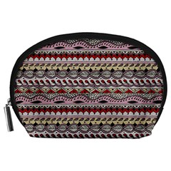 Aztec Pattern Art Accessory Pouches (large)  by BangZart