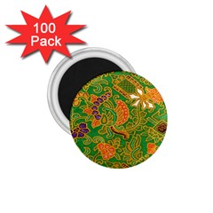 Art Batik The Traditional Fabric 1 75  Magnets (100 Pack)