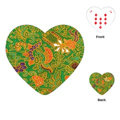 Art Batik The Traditional Fabric Playing Cards (heart)  by BangZart