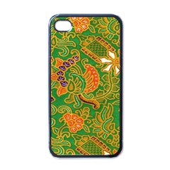 Art Batik The Traditional Fabric Apple Iphone 4 Case (black) by BangZart