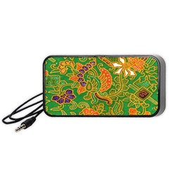 Art Batik The Traditional Fabric Portable Speaker (black) by BangZart