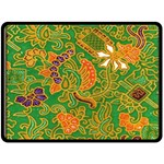 Art Batik The Traditional Fabric Double Sided Fleece Blanket (Large)  80 x60 Blanket Front