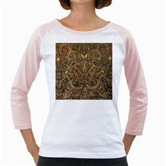 Art Indonesian Batik Girly Raglans
