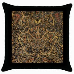 Art Indonesian Batik Throw Pillow Case (black)