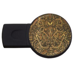 Art Indonesian Batik Usb Flash Drive Round (2 Gb) by BangZart