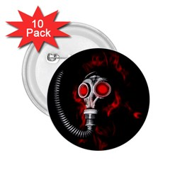 Gas Mask 2 25  Buttons (10 Pack)  by Valentinaart
