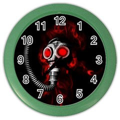 Gas Mask Color Wall Clocks by Valentinaart