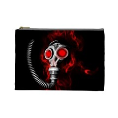Gas Mask Cosmetic Bag (large)  by Valentinaart