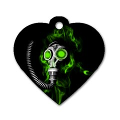Gas Mask Dog Tag Heart (one Side)