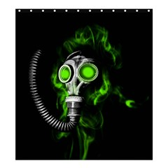 Gas Mask Shower Curtain 66  X 72  (large)  by Valentinaart